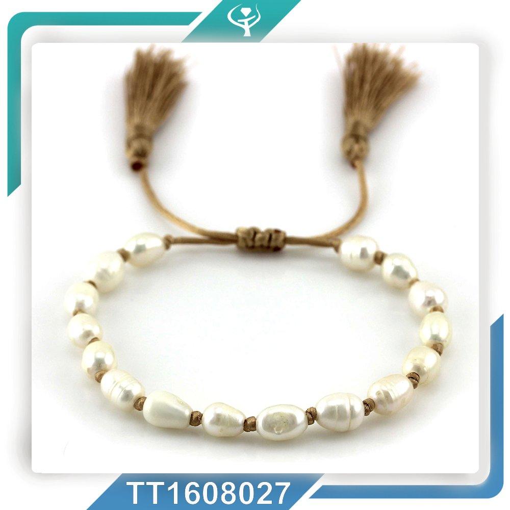 neue design swasser perle quaste armband schmuck fr frauen - Perlen Weben Muster