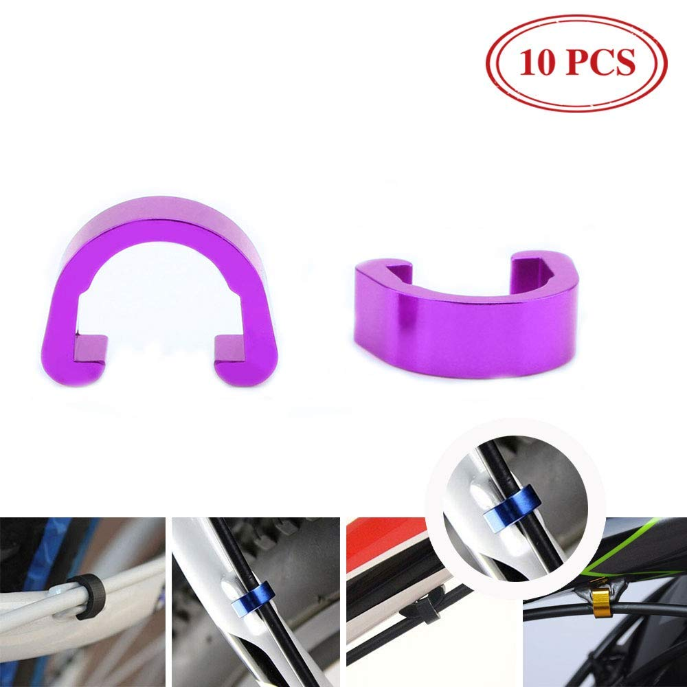 100x S-Clip MTB Cable Guide Bike Bicycle Shifter Housing Hose Holder Clamps