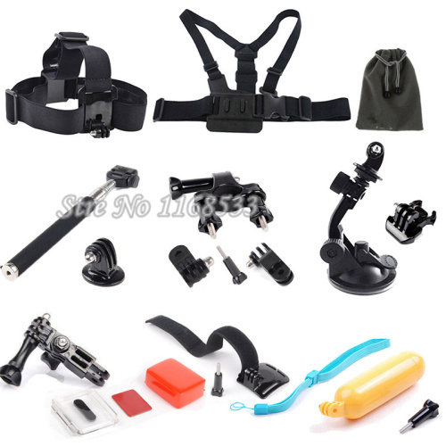 Gopro Accessories Camcorder Chest Head Wrist Mount Floaty Monopod For Gopro