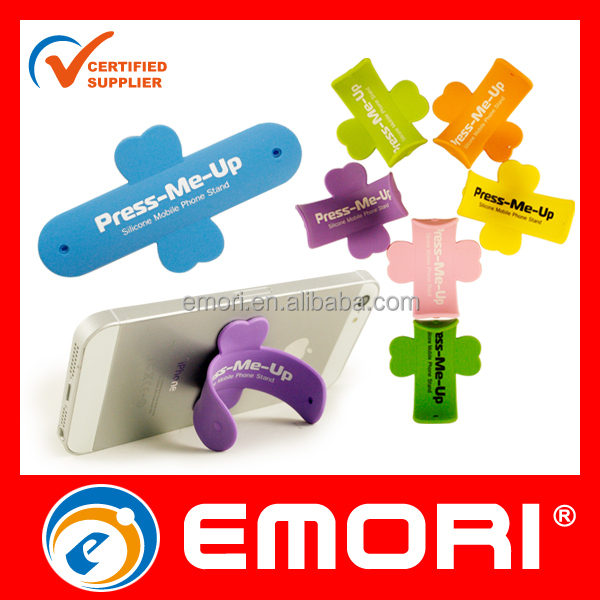 Low - cost customized colorful smartphone touch U silicone stand