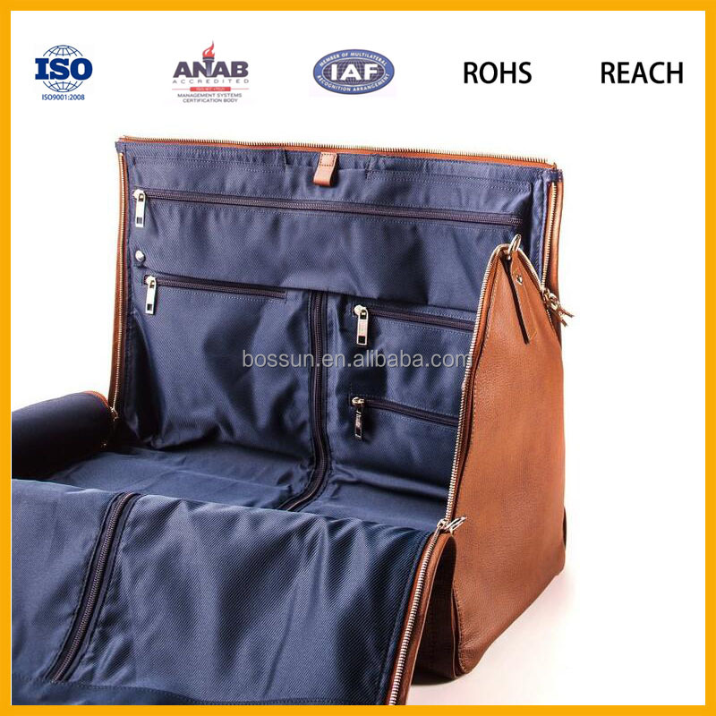 PU leather men travel bag for business trip
