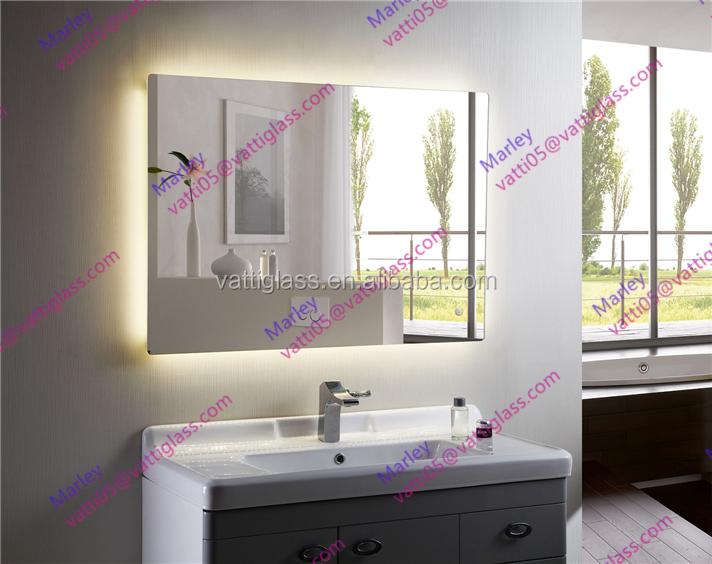 Modern 3d Led Lighting Bathroom Mirror For Hotel