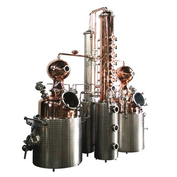 DYE New Copper Distiller Double Kettle Alcohol Distillation Equipment for Sale