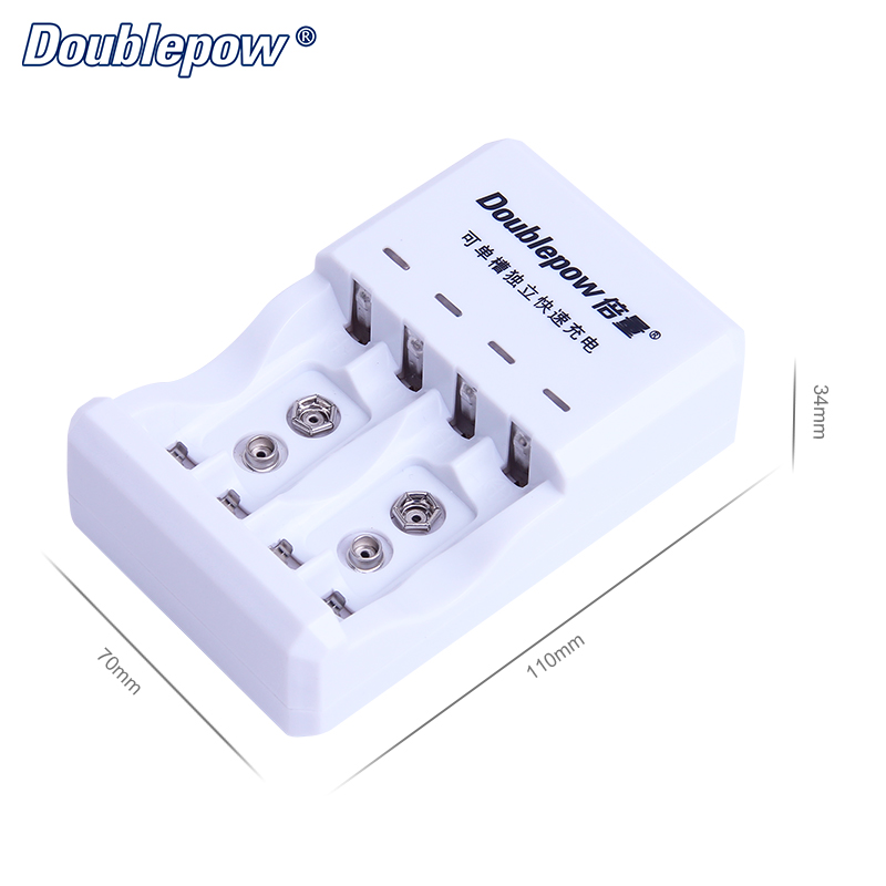 4 Slots D03 LED Multifunction Rapid Charger for 1.2V AA/AAA/C/D/9V Ni-MH/Ni-CD Rechargeable Battery