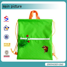 Handled drawstring bag for camping east Asia promotional drawstring bag from china