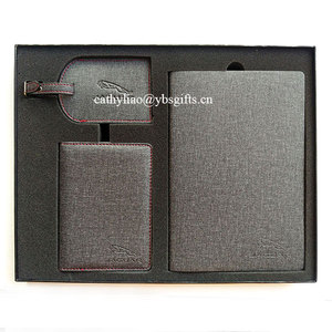 New Year Corporate gifts with passport holder & luggage tag & notebook set