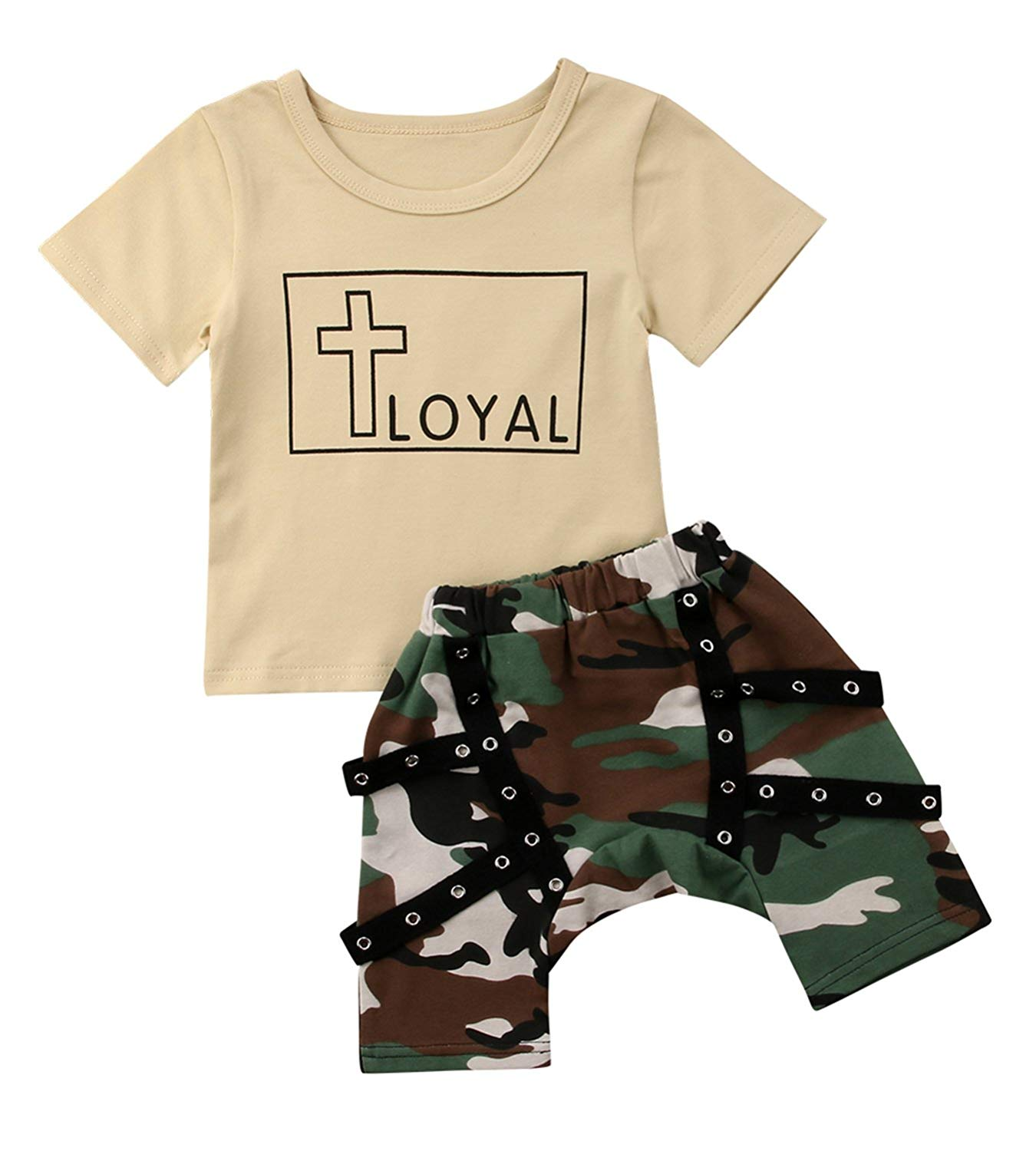 ceb3a6e5993 Get Quotations · yannzi Toddler Boy Summer Clothes