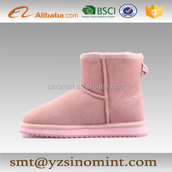 China wholesale price suede and wool boots for men and women