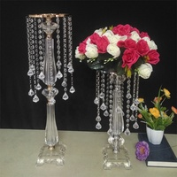 60cm Factory Wholesale wedding table Chandelier centerpiece crystal stand chandelier with bead garland for party& wedding