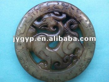 Antique Chinese Jade Carvings Carved Jade Piece Jade Crafts ...