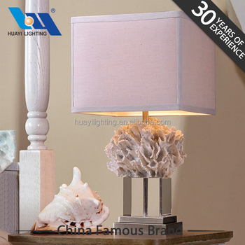 Modern Design Home Decoration Luxury Table Lamps Coral Resin Lamp
