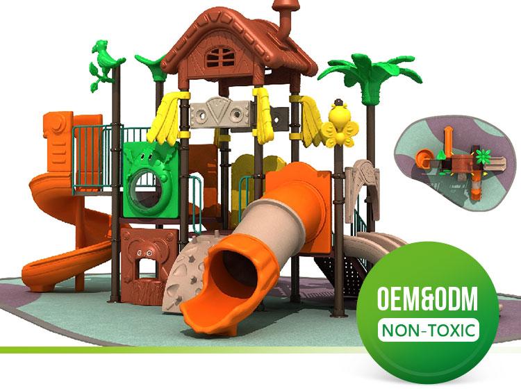 2021 new style Plastic Garden Games kids outdoor playground, outdoor play structure, kindergarten outdoor play station