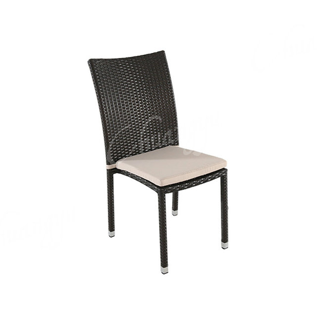 Simple Design Indoor Or Ourdoor Patio Dining Furniture Plastic Rattan Chair