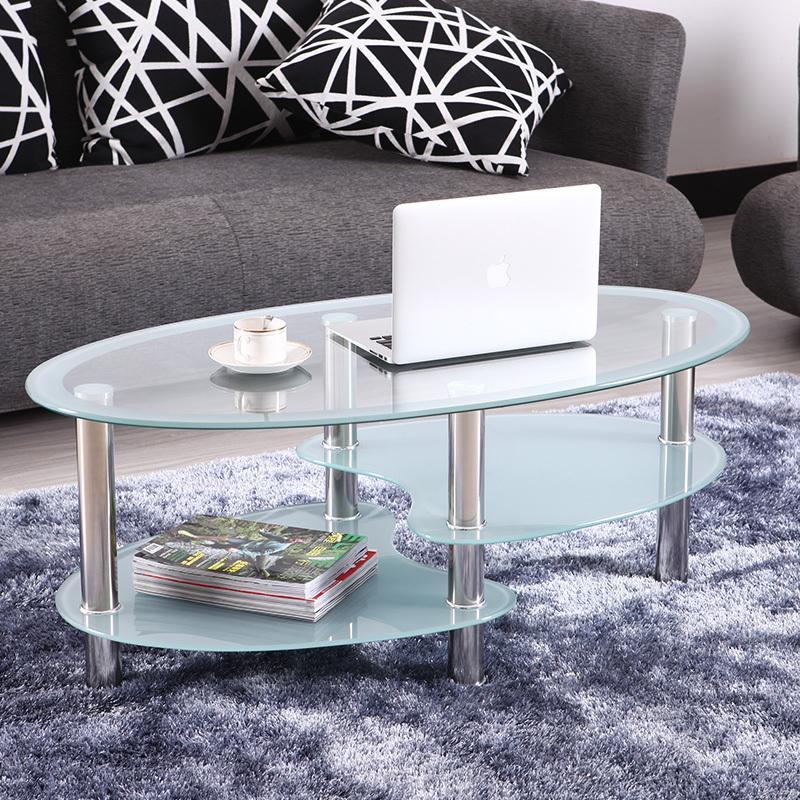 Round Glass Dining Table Ikea: IKEA Modern Minimalist Living Room Sofa Table Glass Oval