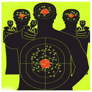 Reactive Splatter Shooting Targets Silhouette Target for Shooting