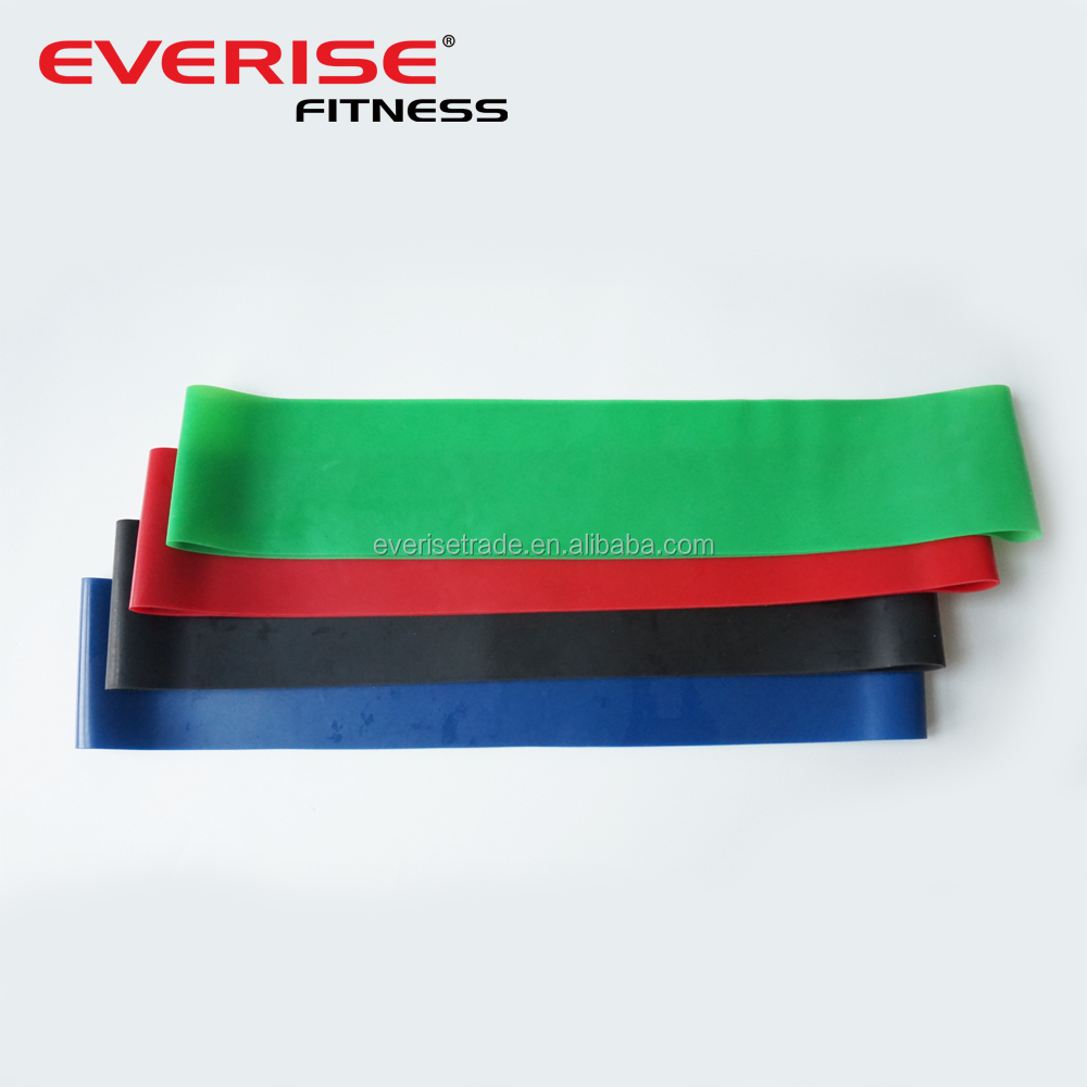 Everise Latex Resistance Loop Bands Set -Wholesale Super Durable Bands for Power Strength Traning