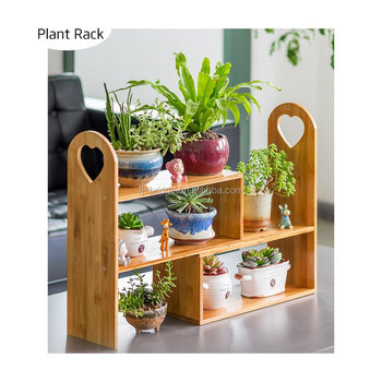 Natural Bamboo Desktop Storage Organizer Display Shelf Rack Tabletop Plant  Stand, Kitchen Organizer Shelves
