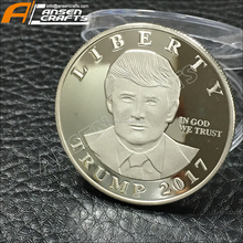 DONALD TRUMP VERZILVERD 2017 PRESIDENTIËLE LIBERTY COIN