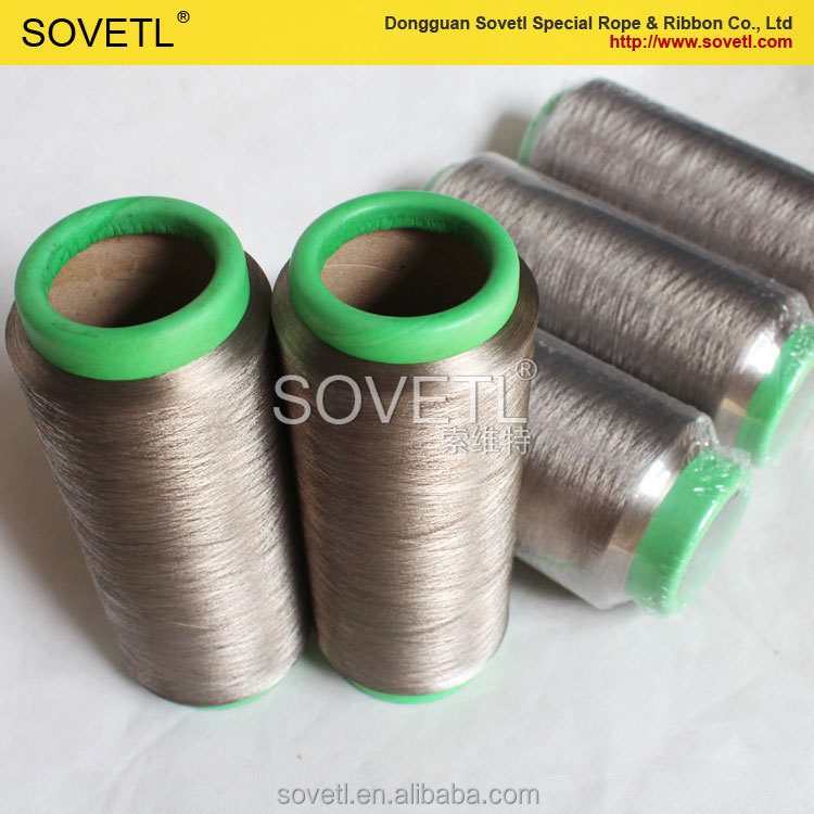 Silver Coated Conductive Fibre Yarn Hot sale