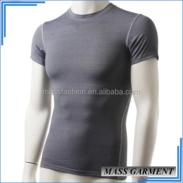 Hot Basic Dry Fit Sport 100 Polyester Scoop Neck Dark Color T Shirt For Mens