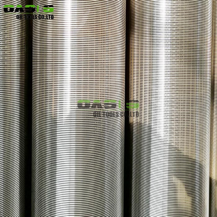 6 5/8'' water well  wedge wire slot screen for deep well drill with Plain beveled ends for butt welding