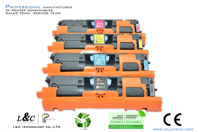 High quality compatible color toner 9700A Cartridge for HP Laserjet 1500