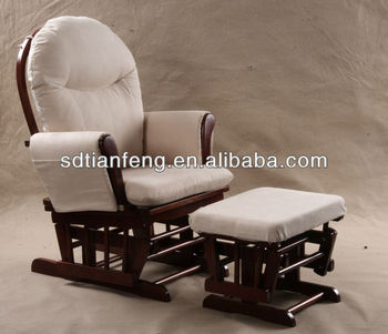Glider Breast Feeding Rocking Chair With Footstool
