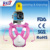 2017 Top 3 New Version Imported PC Silicone Full Face Snorkel Mask For Kids