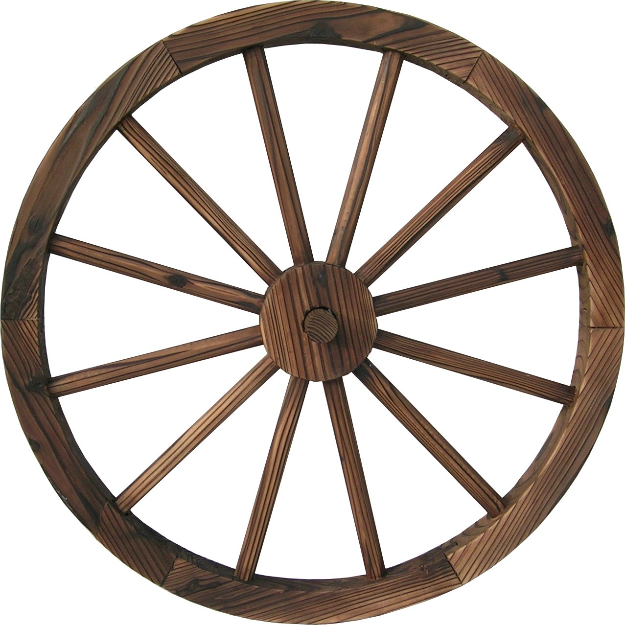 Get Quotations Ddi 30 Wooden Wagon Wheel Burnt Wood
