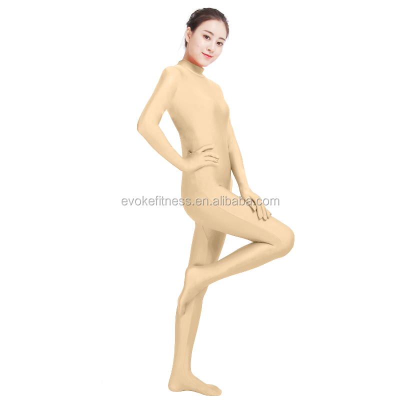 Skin Color Boat Neck Adult Full Body Ballet Unitard/Dance Costume/ Gymnastics Leotard/Cosplay Wear