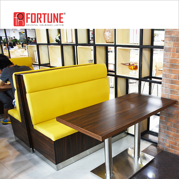 Modern American Retro Style Restaurant Diner Leather Bench