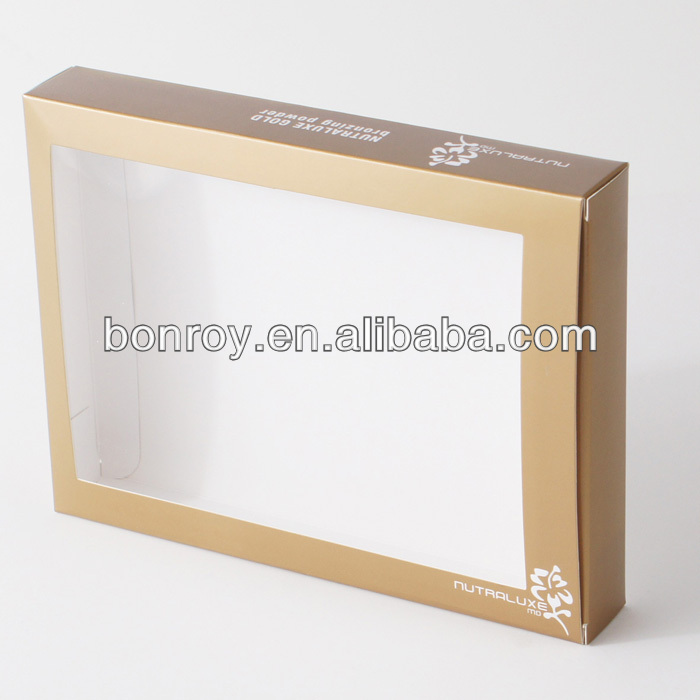 Printed Clear PVC Window Box Packaging with Custom Style
