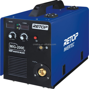 names of welding machine MIG-200E auto iron co2 mag welding machine