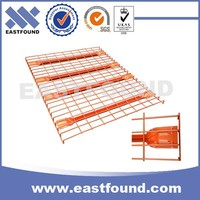 Powder Coated Wire Mesh Panels Stocking Warehouse Rack Deck Welded Mesh Decking