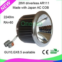 new design 28W 2240lm RA 80 made with Japan AC COB driverless AR111
