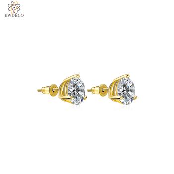 Latest Design Dubai Style Zirconia Jewelry Gold Jhumka Earrings