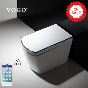 VOGO automatic sensor flushing electric one piece tankless intelligent smart toilet