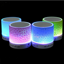 Nirkabel LED Biru-Gigi Speaker Stereo Suara Hands Free Call Mini Portable Light Pengeras Suara Musik Amp <span class=keywords><strong>Audio</strong></span> dengan MIC TF