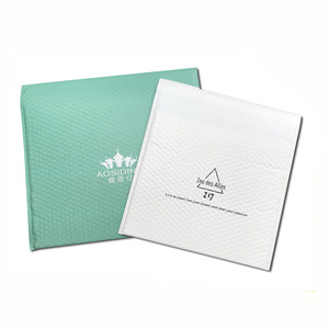 Custom Logo Printed White Poly Bubble Padded Envelope Mailers For Garments