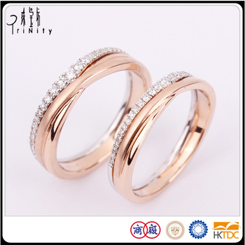 single diamond wone rings shop online two rose ring engagement gold wedding tone