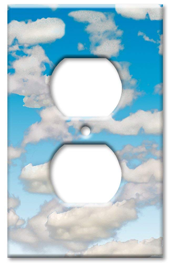 Art Plates - Outlet Cover OVERSIZE Switch Plate/OVER SIZE Wall Plate - Clouds