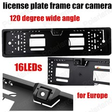 16 LED For EU License Plate Frame HD car rear view camera backup reverse Universal camera European120 degree wide angle
