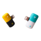 Mini Fast Charger and audio Adapter 2 in 1 Pill Shape Splitter Adapter for iPhone