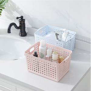 Plastic Toys Storage Basket, Household Laundry Bins Organizer With Handles