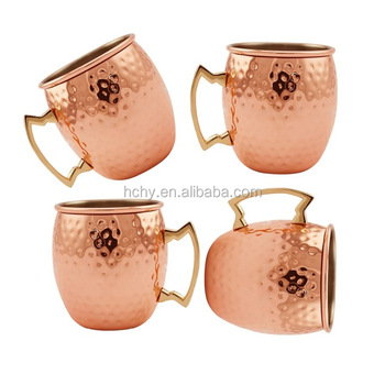 Top quality coffee beer copper moscow mule copper mugs set of 4