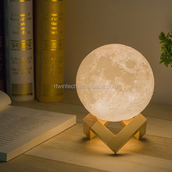Amazon Hot Selling Remote Control Moon In MY Room Wall Light Lamp 3D Illusion Night
