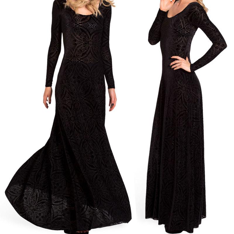 04efb2d73405 Get Quotations · Women Velvet Long Sleeve Dress Casual Maxi Long Bandage  Evening Party Dresses Vestidos 2015 Hot Sale