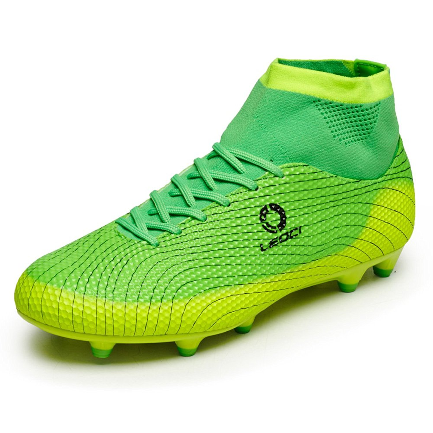 bae72d90cb1 Get Quotations · Anduode Boys  Athletic Firm Ground Soccer Cleats High Top  Indoor Soccer Shoes(Little Kid