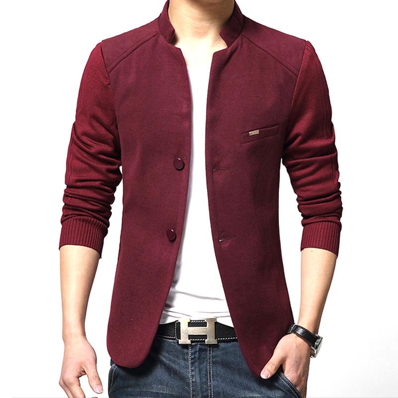 Compra mens chaqueta de color rojo online al por mayor de