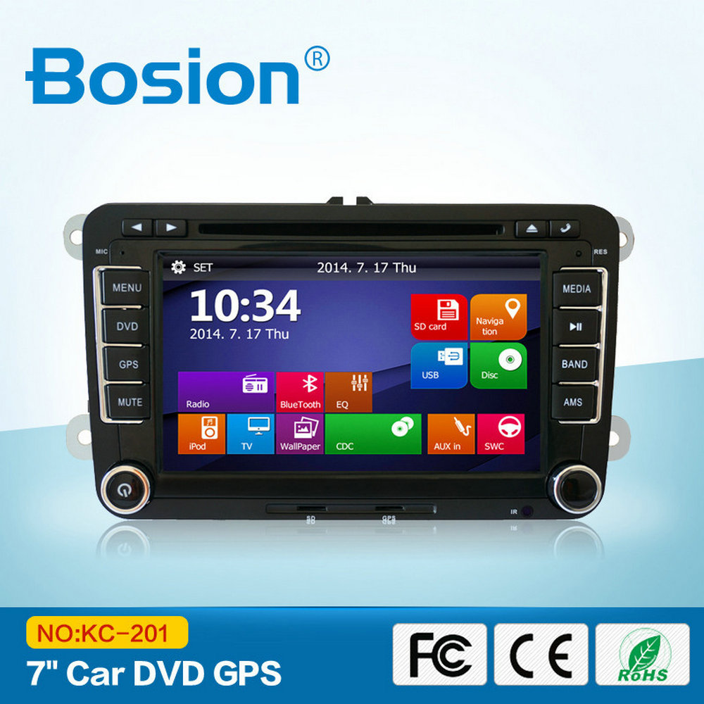 Bosion Cheap Factory Direct Selling VW Blue Ray Car DVD Player With RDS Radio and GPS